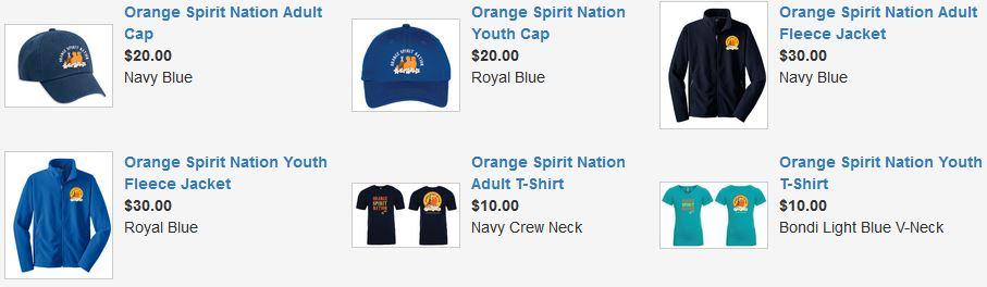 Orange Spirit Nation Gear